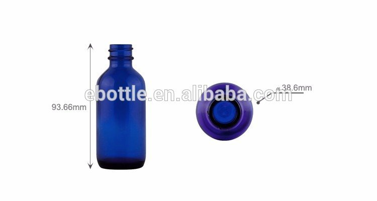 60ml Cobalt Blue Glass Water Bottle 20mm-400