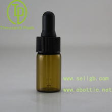 5ml Amber Chemical Glass Bottle, Glass Laboratory Reagent Bottle with Dropper