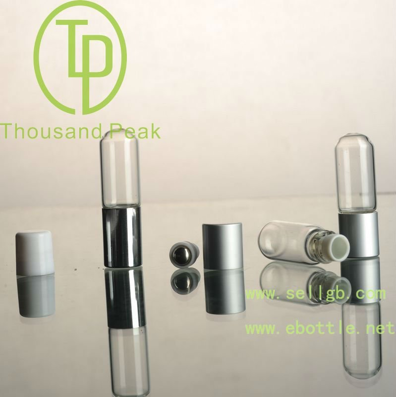 TP-3-19-3 2ml glass roll on bottles with plastic cover