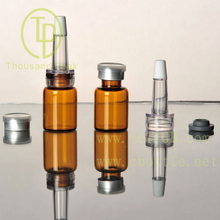 TP-2-31 5ml Amber Glass Dropper Bottle With Butul stopper PVC Dropper
