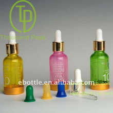 TP-2-35-2 30ml crystal colorful bottles, color cosmetic packaging bottles with dropper