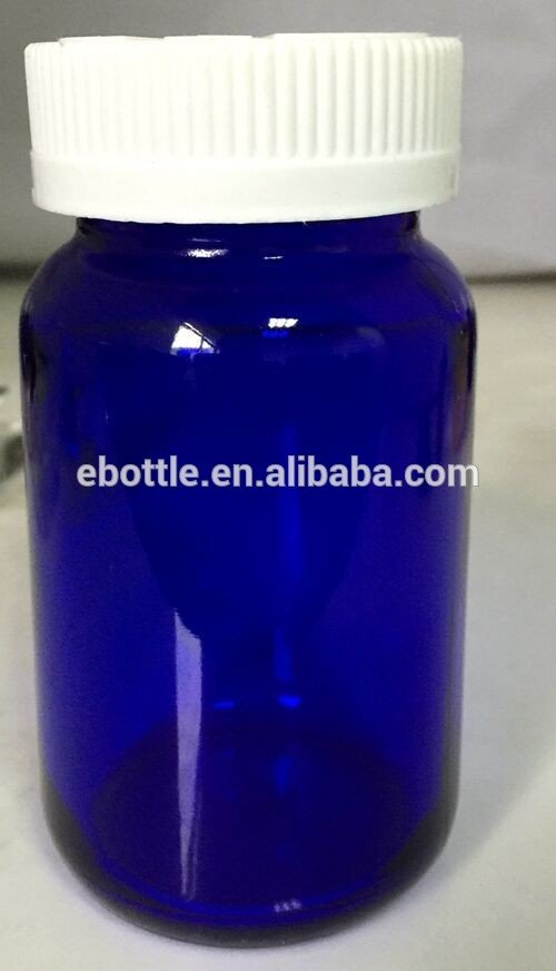 TP-5-02 blue glass bottle with CRC cap