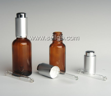5ml -100ml Amber Glass Dropper bottle, cosmetic glass bottle with plastic dropper, essential oil bottle