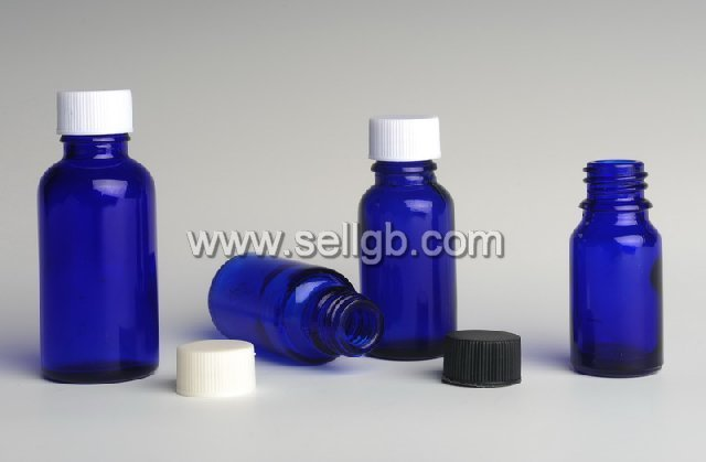 5ml,10ml,15ml,20ml,30ml,50ml,100ml,150ml blue glass vial,glass bottle with pp cap