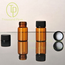 TP-1-09 7ml clear glass vials,glass bottles with black ,red cap