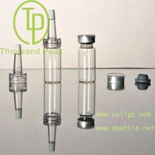 TP-2-05 10ml clear Bayonet bottle with butyl rubber stopper open aluminum alloy group and cover and a trumpet head