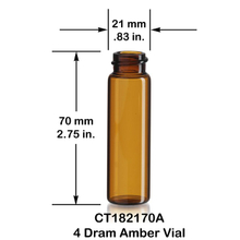 Good quality 5ml amber reagent bottle with green cap